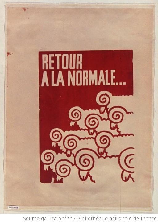 [Mai 1968]. Retour à la normale... (les moutons), Atelier des Beaux arts : [affiche]