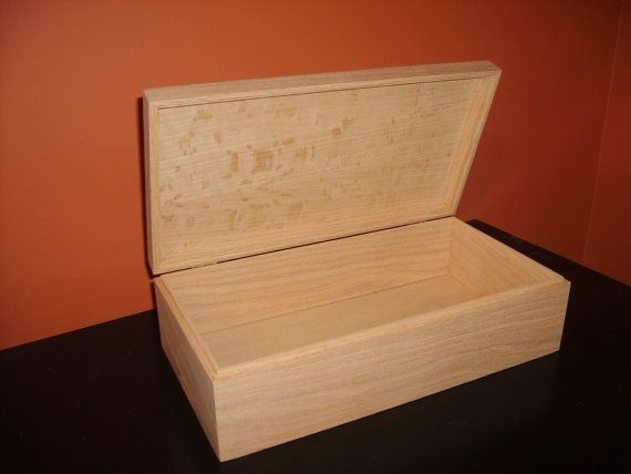 Unfinished  Wood Box w/ Hinges13 3/4 x 7 by designcraftindustrie, $25.95