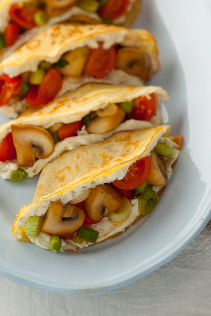 Leckere französische Crêpes mit Gemüse, nicht nur für Vegetarier ein Genuß.