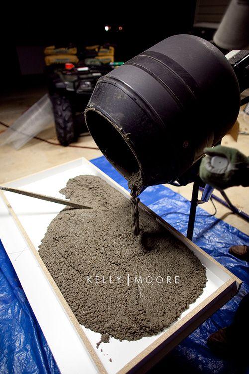 09 concretecountertops tutorials pinterest betonarbeitsplatte betonieren und diy beton. Black Bedroom Furniture Sets. Home Design Ideas
