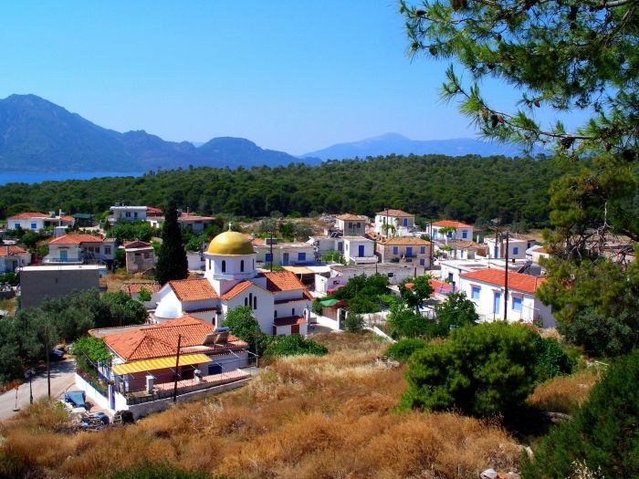 Mountain village of Limenaria, Agistri