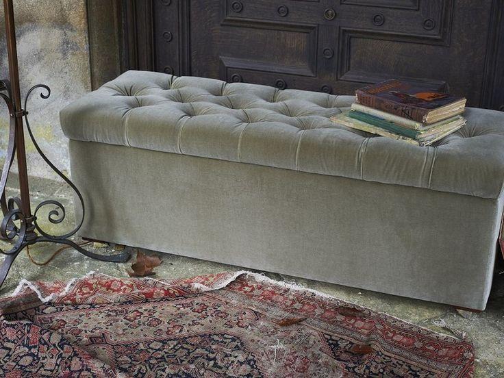 The Valentin storage bench in Smoke cotton matt velvet, €648