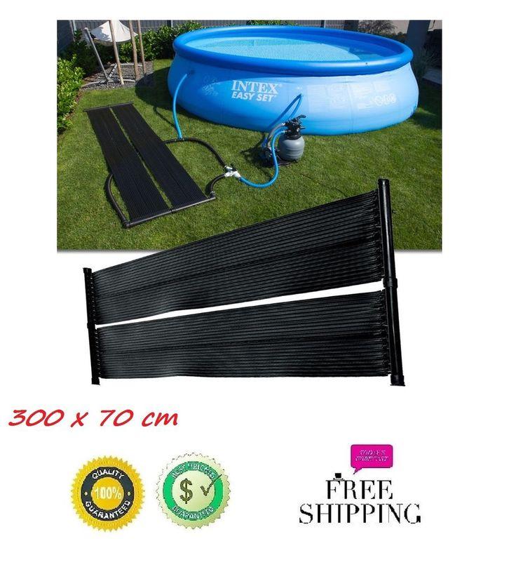 Poolheizung für Pool Solar Solarabsorber Solarheizung 1x Solarmatte 300 x 70cm