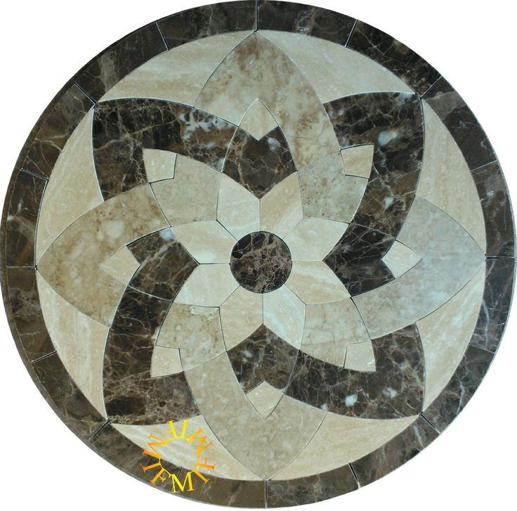 Floor Marble Medallion Mosaic Tile 60 Inch Amazon Com