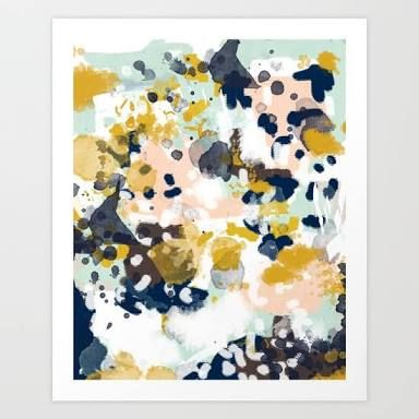 Image result for painting abstract mustard navy
