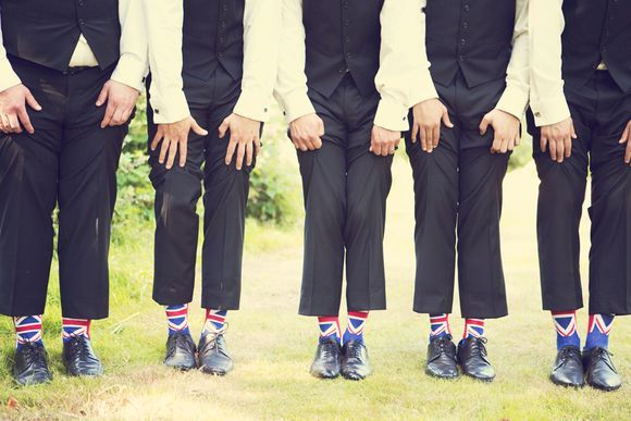 American vs British wedding traditions. (Also, the socks)