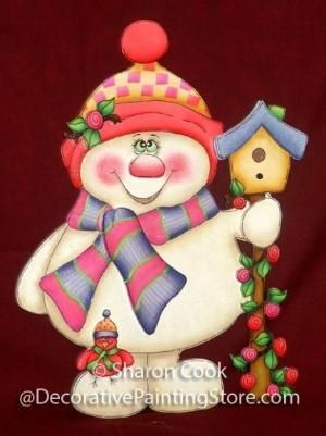 The Decorative Painting Store: Springtime Snowman Pattern, Newly Added Painting Patterns / e-Patterns by Stephanie Giourga