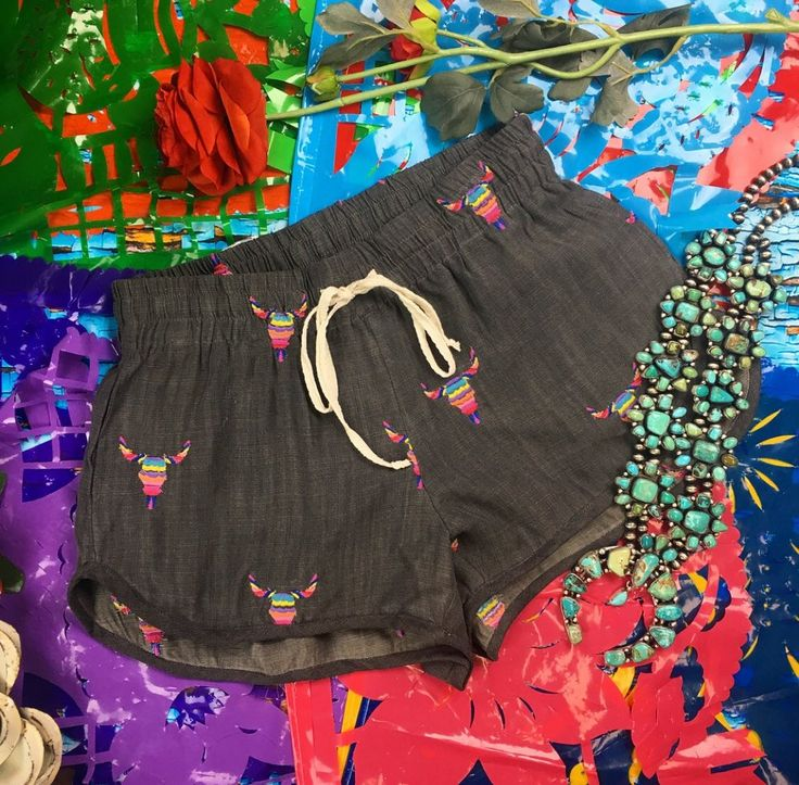 Judith March Steel Serape Shorts
