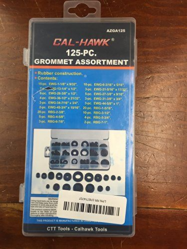 Cal-Hawk AZGA125 Rubber Grommet Assortment Set Electrical Gasket, 125 Piece >>> Want additional info? Click on the image.