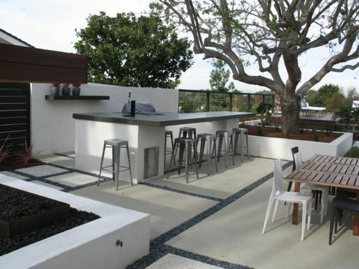 1001 id es d 39 am nagement d 39 une cuisine d 39 t ext rieure id es de jardin pinterest bar. Black Bedroom Furniture Sets. Home Design Ideas
