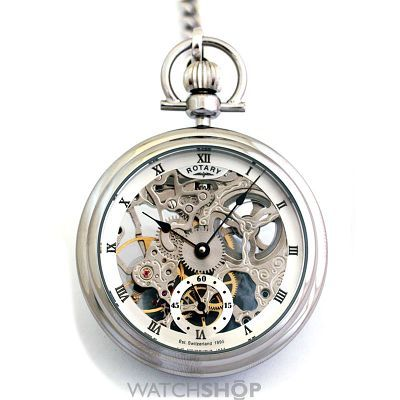 Rotary Pocket Skeleton Mechanical Watch MP00723/21