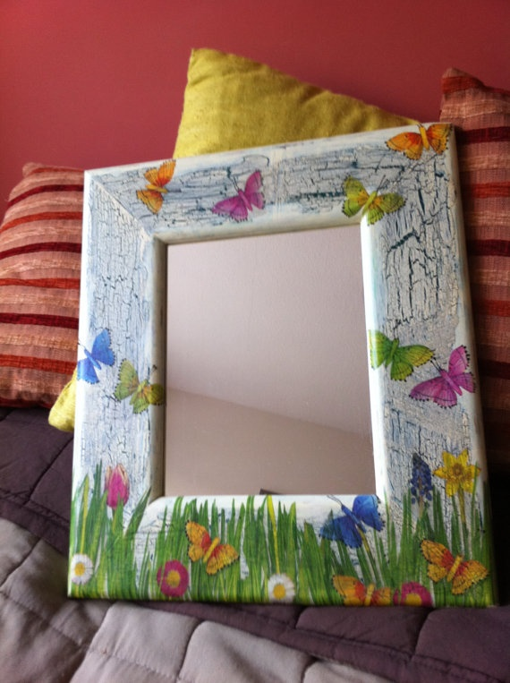 Decoupaged Shabby Chic Wall Mirror Finaly by DecoupageEmporium,