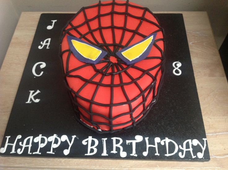 Photos Of Spiderman Birthday Cakes