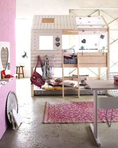 Habitación infantil literas-para-ninas