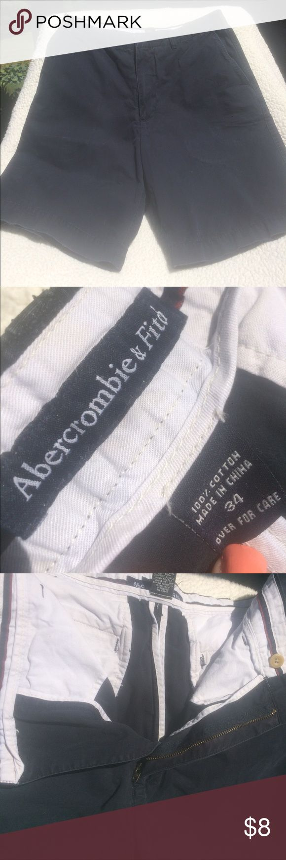 🌻ABERCROMBIE MENS SHORTS ABERCROMBIE men's comfy 100% cotton Navy shorts. ❤️🌻 Shorts Bermudas