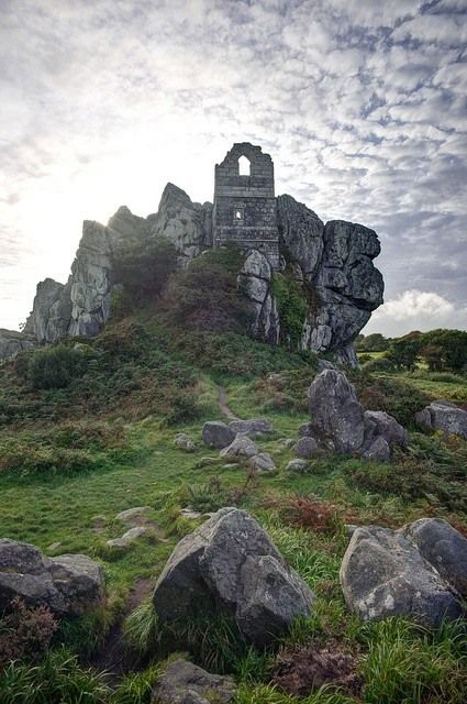 Roche Rock, Cornwall by SharpeImages.co.uk, Partly carved out of, and partly created of the surrounding rock it is thought to have been either a hermitage and/or occupied by a leper. It also features in the story of Tristan and Isolde in the King Arthur legends.