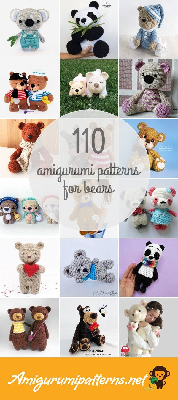 Amigurumi Patterns For Bears | Amigurumi | Pinterest | Patrones ...