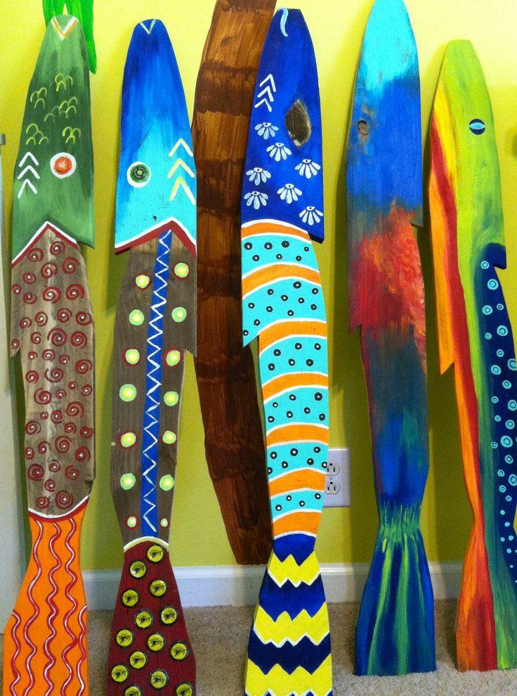 Pallet Painted Fish by Glassmermaid