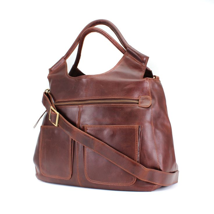 Leather Weekend Bag/ leather holdall/ leather daiper bag/ handbag by TheLeatherStore on Etsy https://www.etsy.com/listing/241431200/leather-weekend-bag-leather-holdall