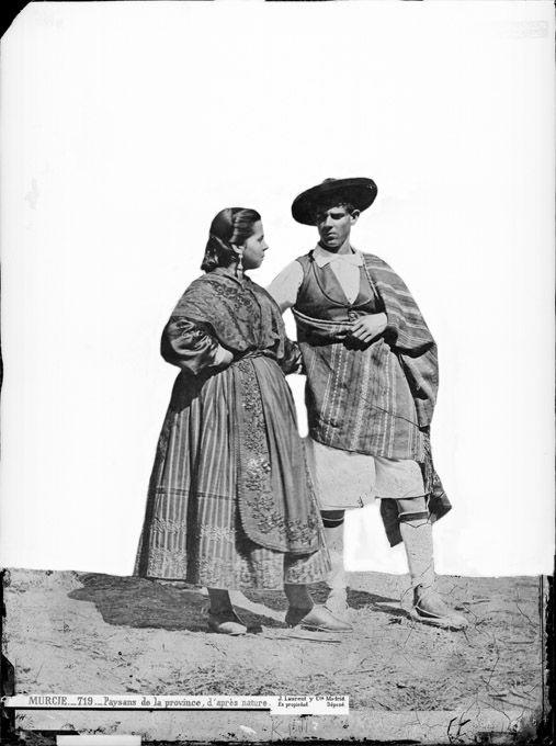 Huertanos de época. Murcia. España.  Trajes típicos antiguos