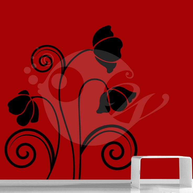 With this Wild Flowers Wall Sticker Decal you can decorate your walls in one of the most modern and elegant ways