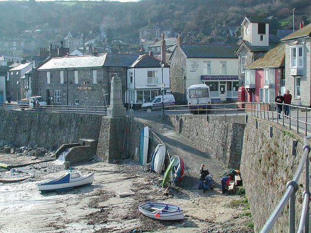 The village of Mousehole in Cornwall - one of the inspirations behind Winter (image from http://www.cornwallcam.co.uk/archive/Mousehole130203(14).jpg)