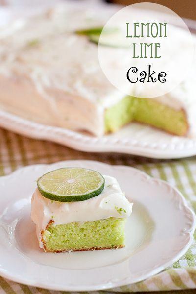 Vintage recipe for Lemon Lime Cake
