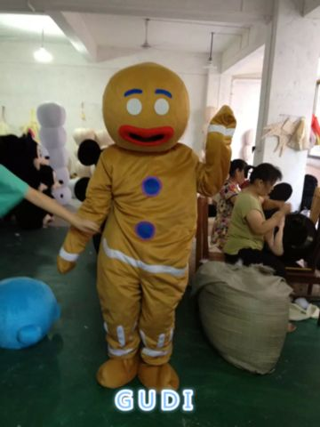 HOT Cookies cartoon mascot costumes Halloween party adult size Free Shipping