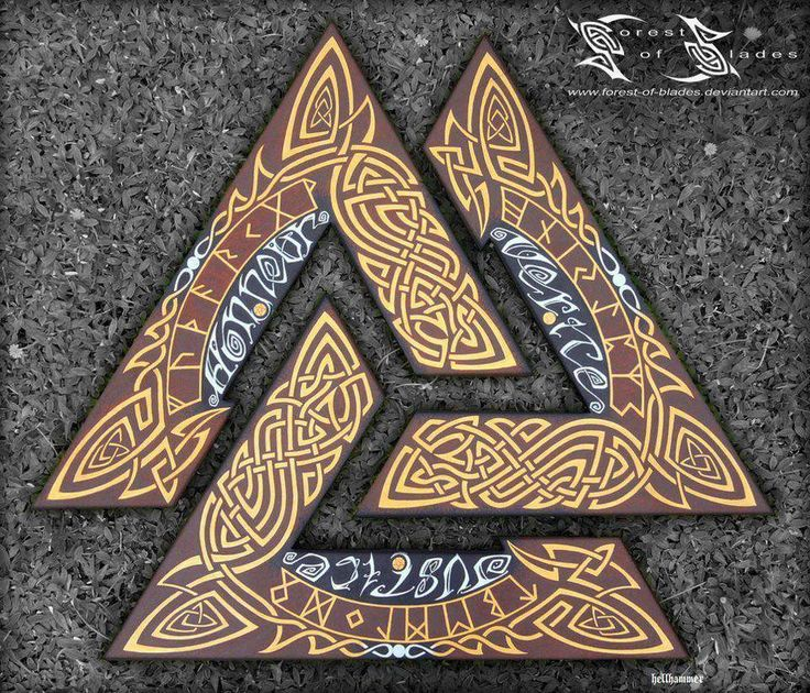 The valknut. Nordic rune used to call Valkyries to carry fallen warriors to Valhalla