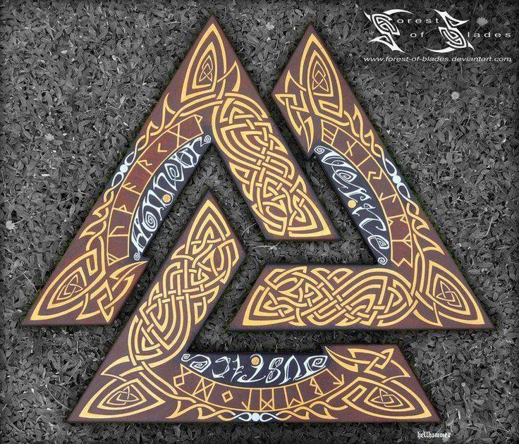 Valknut - Ce symbole scandinave composé de trois triangles entrelacés pourrait…
