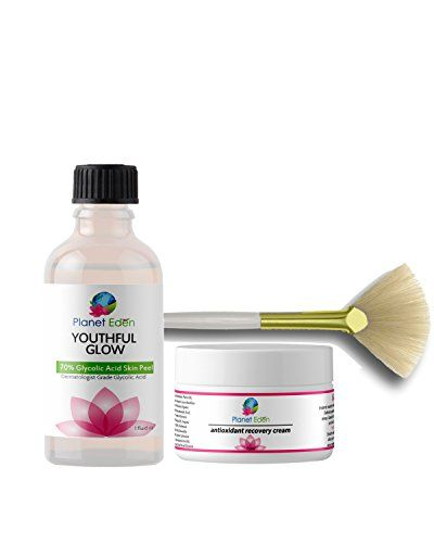 70 Glycolic Acid Chemical Skin Peel Kit with Antioxidant Recovery Cream Set and Fan Brush ** Awesome product. Click the image : Skin Lightening Products