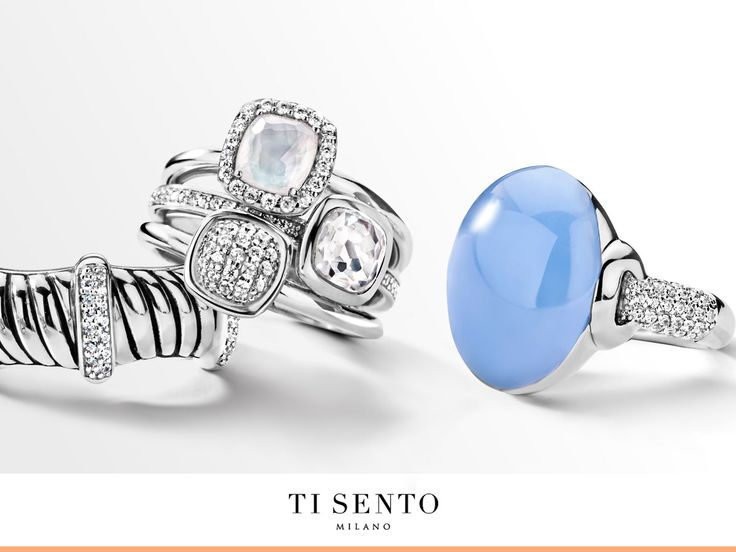Which ring do you like the most? The one with the divided structures? The three in one cushion? Or the lavender blue pebble?  Available at Daniel Jewelers, Brewster New York