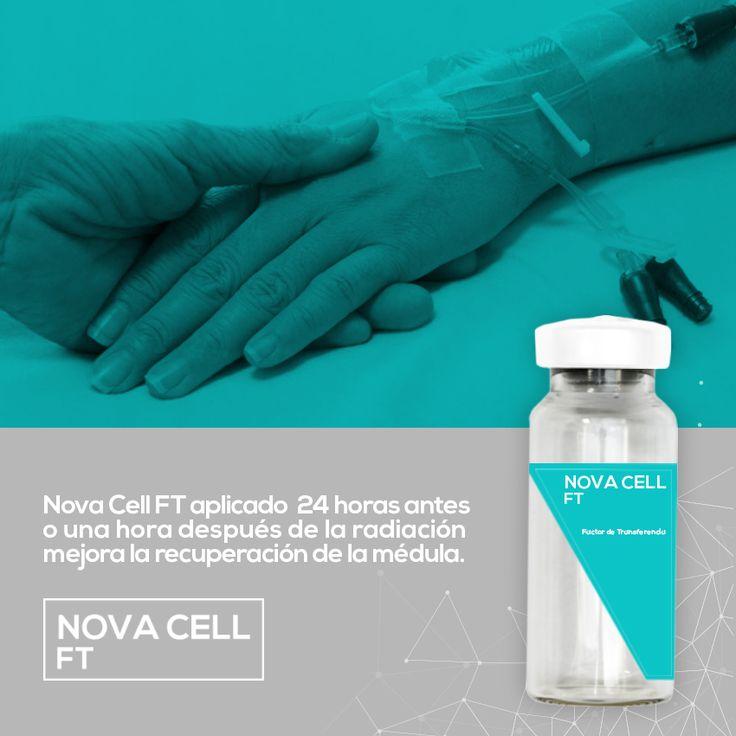 Aplica #NovaCellFT antes o después de tus radiaciones para mejorar la recuperación de la médula ósea. #CuidamosDeTi <3