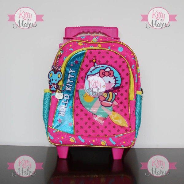 Mochila De Ruedas CHICA RUZ Rosa/Azul Hello Kitty
