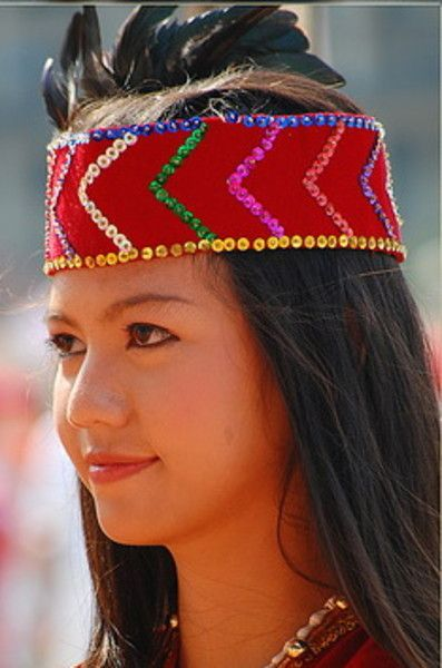dayak heads | exotic girl from dayak tribe indonesia
