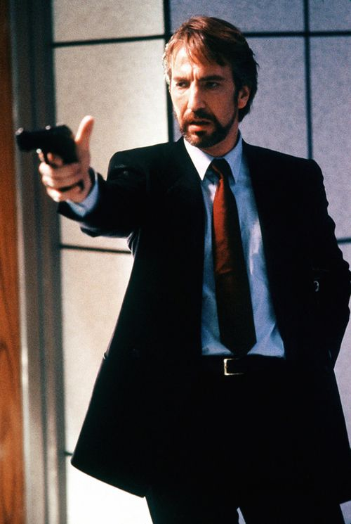 """In at Number 1 the ultimate European bad guy for a Hollywood film - """"Now I have a machine gun. Ho ho ho"""" Alan Rickman as Hans Gruber in Die Hard (1988). Mention should go to Rickman's perhaps even better turn as the Sheriff of Nottingham in Robin Hood Prince of Thieves but I am not counting that as a classic action movie."""