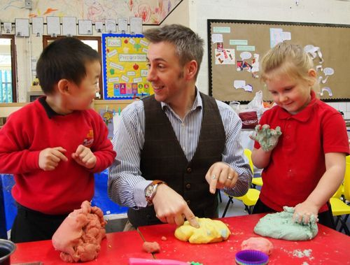 in action! #abcdoes #doughgym #eyfs
