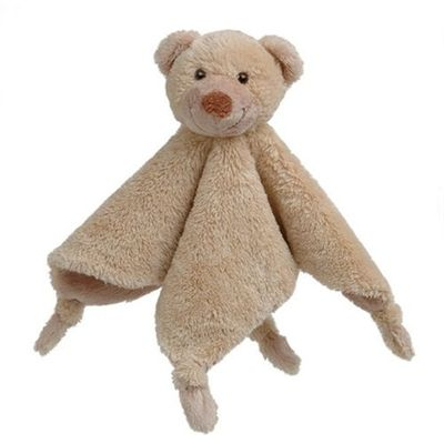 A beautifully soft and cuddly baby comforter with a rattly head and knotted corners perfect for snuggling and treasuring from Happy Horse. Best of all for Mums Bear Boogy is machine washable at 30 degrees.