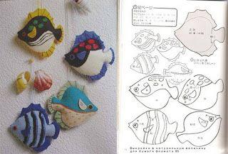 ARTESANATO COM QUIANE - Paps,Moldes,E.V.A,Feltro,Costuras,Fofuchas 3D: Moldes bichos do fundo do mar_feltro ou tecido