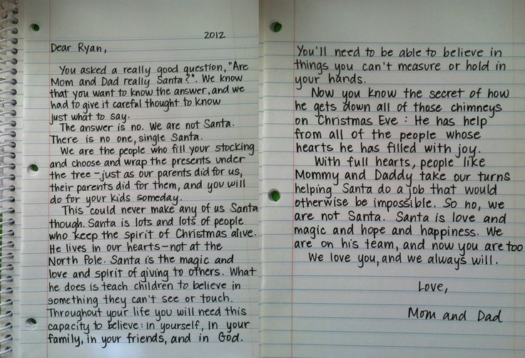 Letter about Santa Claus is real... Christmas
