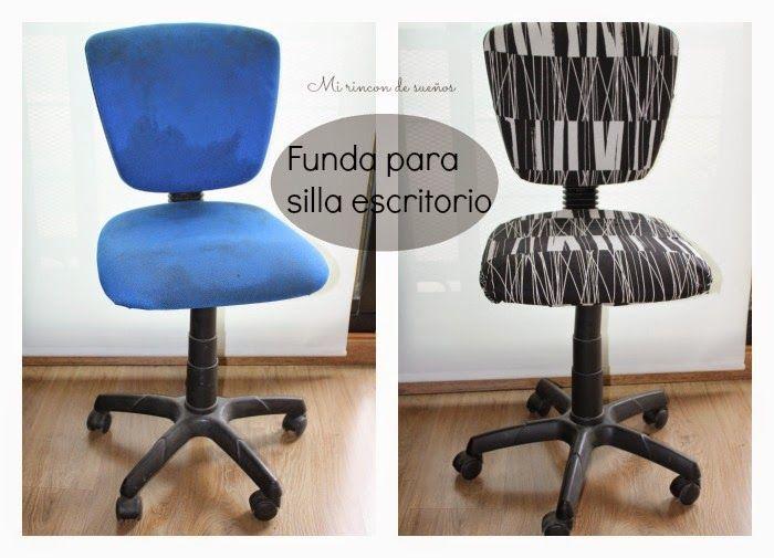 MI RINCÓN DE SUEÑOS: Hacer funda para silla de escritorio