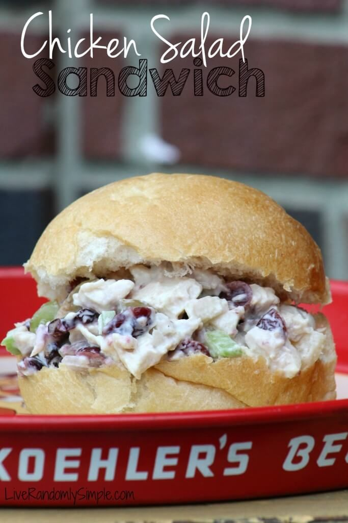 Amazing Chicken Fruit Salad Sandiwch |  This chicken salad sandwich is one of those foods that just explodes with flavor! @Jessbures