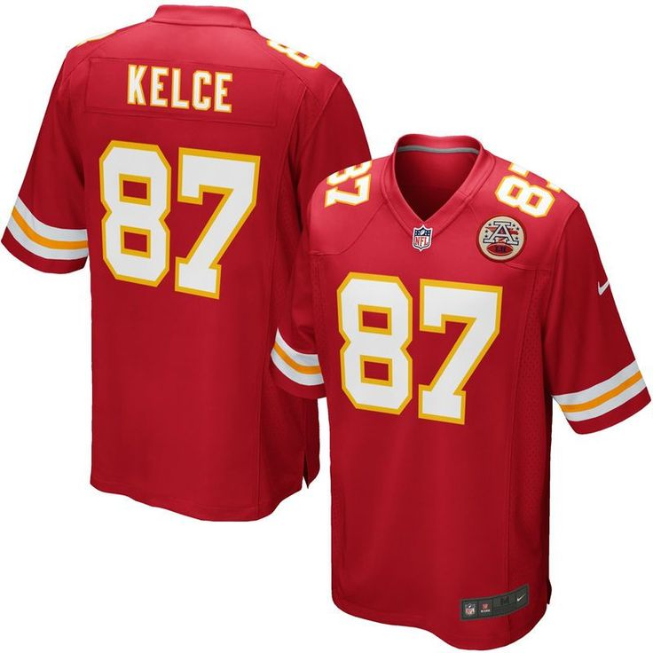 Travis Kelce Kansas City Chiefs Youth Nike Team Color Game Jersey - Red