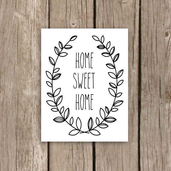 Home Sweet Home Printable Art Laurel by MooseberryPrintables, $5.00