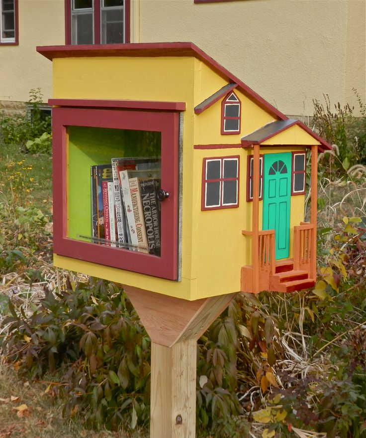 Peter Foster. Minneapolis, MN. This is one of a dozen little free libraries built by Transition Longfellow, a neighborhood sustainability group.We invited the community to sign up for a building day and those who attended built the libraries together. Those with woodworking skills helped those who had never done any building before. It was a GREAT community event. And the community continues to support this project by providing us with an ongoing supply of books.