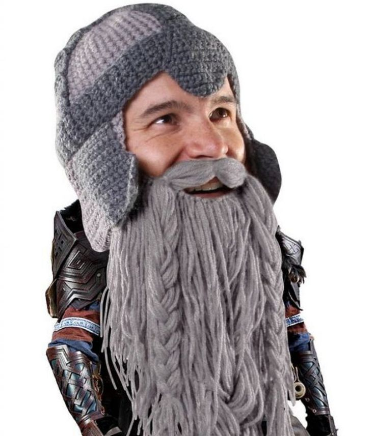The Original Barbarian Warrior Knit Beard Hat
