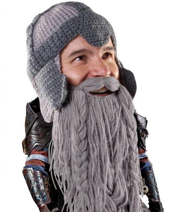 The Original Barbarian Warrior Knit Beard Hat