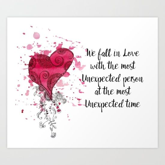 Love Quote for Valentine's Day Art Print