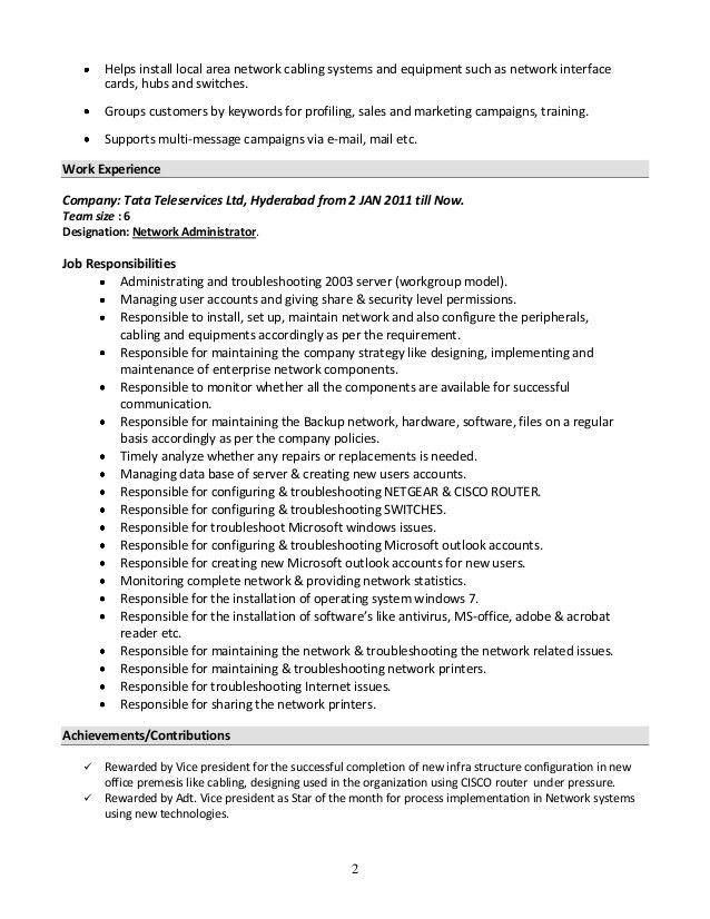 University Administrator Resume System Administrator Resume Format Sampleresume Freeresume Simple Resume Sample Resume Examples System Administrator