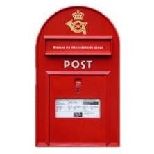 Very typical #Danish //Red Danish Mailbox